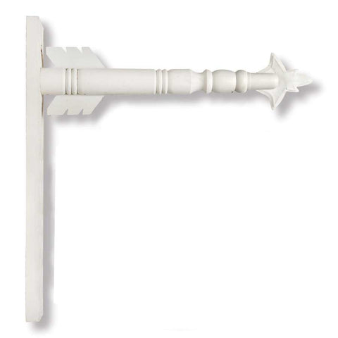 17.5 Inch White Wood Arrow Holder