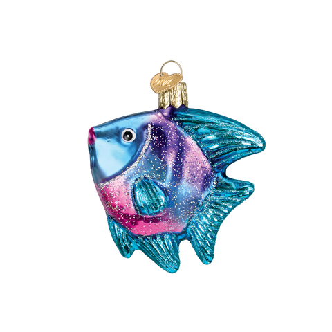 Tropical Angel Fish - Blue & Purple