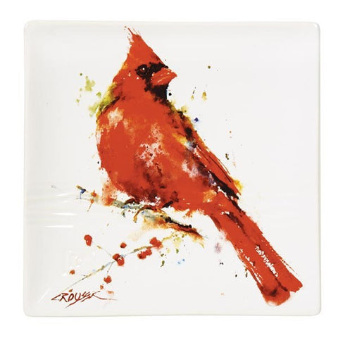 Cardinal Stoneware Snack Plate | Dean Crouser