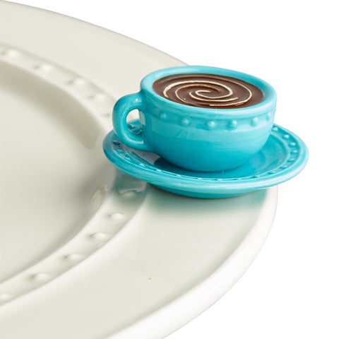 Mini Cup and Saucer Platter Ornamanent - Nora Fleming