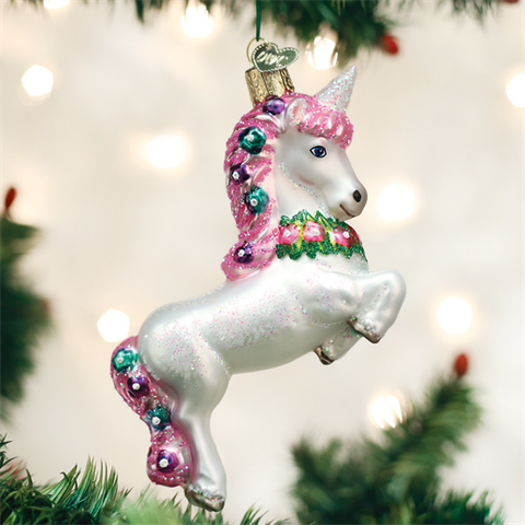 Prancing Unicorn Ornament