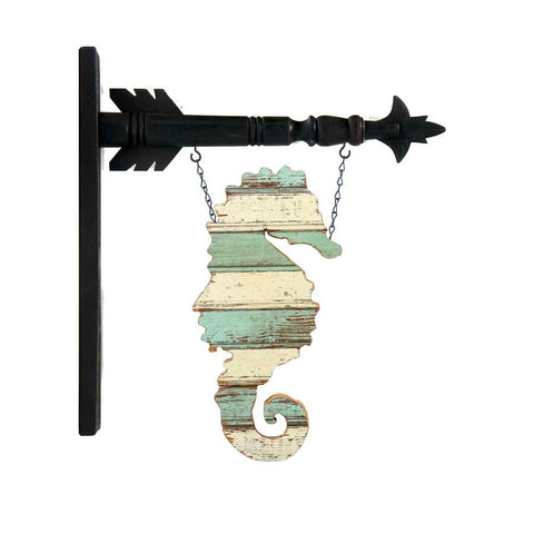 Hanging Sign - Rustic Seahorse