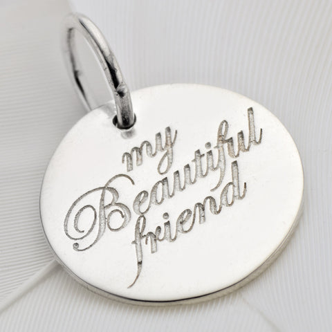 Palas, Silver my beautiful friend charm - Palas - Jewellery - Paloma + Co Adelaide Boutique