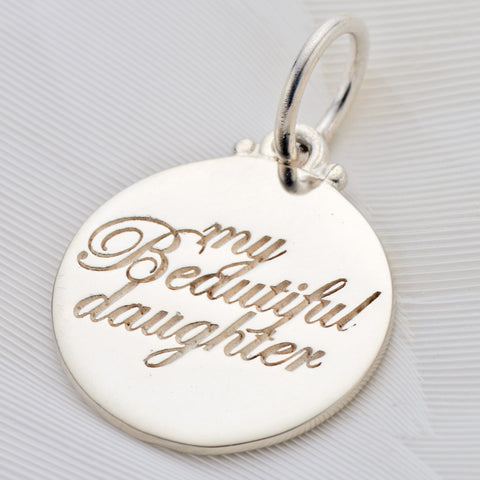 Palas, Silver beautiful daughter charm - Palas - Jewellery - Paloma + Co Adelaide Boutique