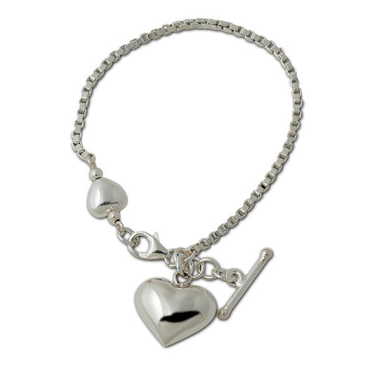 Von Treskow Heart Bracelet      A classic piece of sterling silver jewellery.. 925 silver, Australian made and designed. - Von Treskow - Jewellery - Paloma + Co Adelaide Boutique
