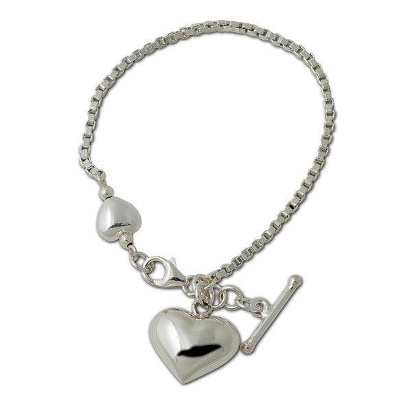 Von Treskow Heart Bracelet      A classic piece of sterling silver jewellery.. 925 silver, Australian made and designed.