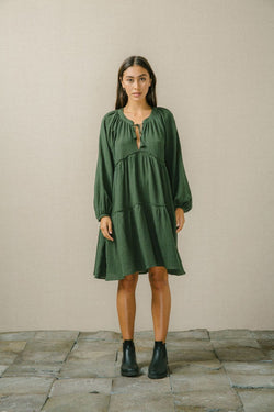 Bird and Kite Angeline Dress Moss - Bird and Kite - FASHION - Paloma + Co Adelaide Boutique