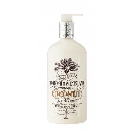 Maine Beach LORD HOWE ISLAND HAND & BODY CRÈME Coconut & Tahitian Lime Fragrance 500ml - Maine Beach - Gifts - Paloma + Co Adelaide Boutique