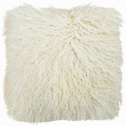 Tibetan Mongolian Lamb Wool  Cushion Natural