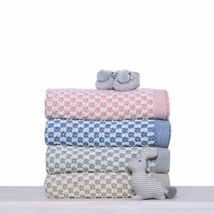 D Lux Cradle  Cotton Knitted Cot Blanket