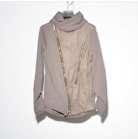 NO, NO, YES! Leather Jacket Top with Hood Shark Grey - No, No, Yes! - Fashion - Paloma + Co Adelaide Boutique
