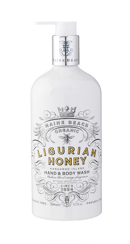 Maine Beach Ligurian Honey - Italian Blood Orange Fragrance - Hand and Body Wash