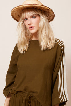 Mes Demoiselles Avant Stella Khaki Top - Mes Demoiselles - FASHION - Paloma + Co Adelaide Boutique