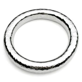 Silver beaten tube bangle
