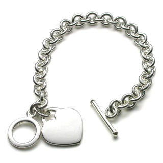 NAJO  STERLING SILVER  bracelet with heart - NAJO - Jewellery - Paloma + Co Adelaide Boutique