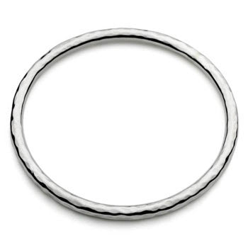 Beaten sterling silver bangle