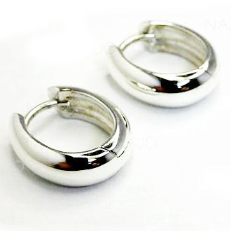 Small Oval Huggie Earring