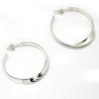 Flat Twist Hoop Earring