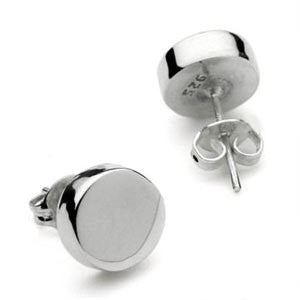 Najo, Round Flat Sterling  Silver Stud Ear Rings - NAJO - Jewellery - Paloma + Co Adelaide Boutique