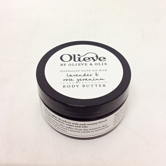 Olieve and Olie Organic Body Butter Lavender, Rose Geranium and Sweet Orange - Olieve and Olie - Gifts - Paloma + Co Adelaide Boutique