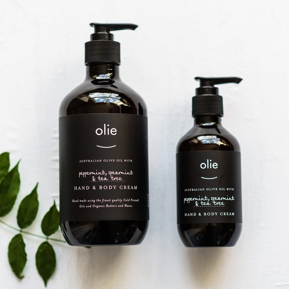 Olieve and Olie Body Cream Peppermint, Spearmint, TeaTree