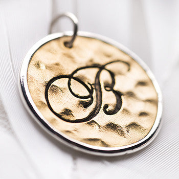 Palas B Script initial charm - Palas - Jewellery - Paloma + Co Adelaide Boutique