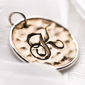 PALAS K Script Initial  Charm - Palas - Jewellery - Paloma + Co Adelaide Boutique