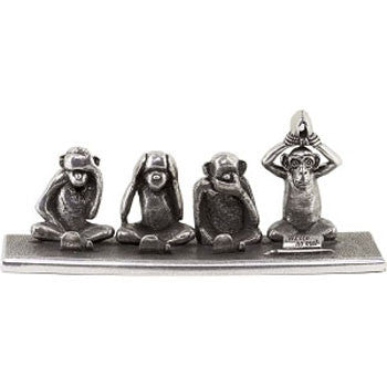 Jac Zagoory Write No Evil - 4 Monkeys Pen Holder - Jac Zagoory - Gift - Paloma + Co Adelaide Boutique