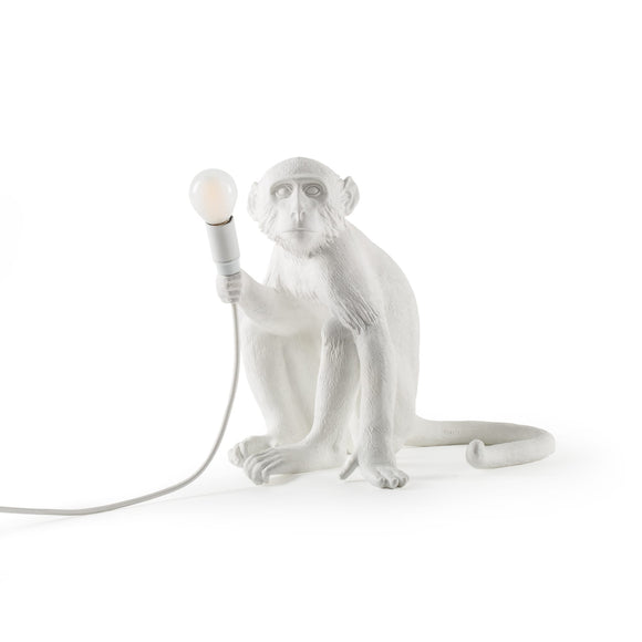 Seletti Monkey Light Sitting - White - SELETTI - Homeware - Paloma + Co Adelaide Boutique
