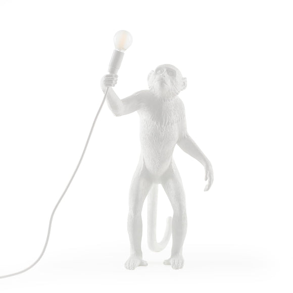 Seletti Monkey Lamp Standing White - SELETTI - Homeware - Paloma + Co Adelaide Boutique