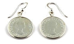 Von Treskow Coin Six Pence Earrings - Von Treskow - Jewellery - Paloma + Co Adelaide Boutique