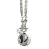 Von Treskow Silver Curb Necklace with Round Locket - Von Treskow - Jewellery - Paloma + Co Adelaide Boutique