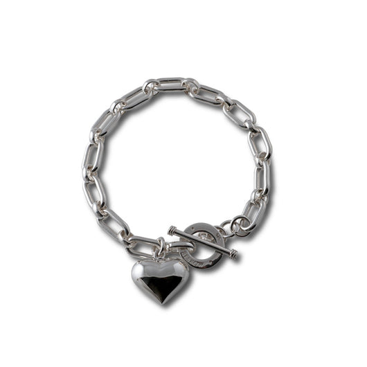 Von Treskow SOLID SILVER BRACELET WITH PUFFY HEART