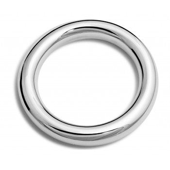 Sterling Silver 14mm Wide Donut Bangle