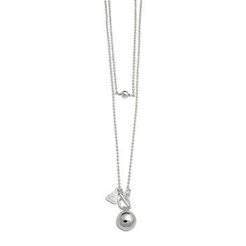 Sterling Silver 80cm Ball Chain with Medium Chime Ball