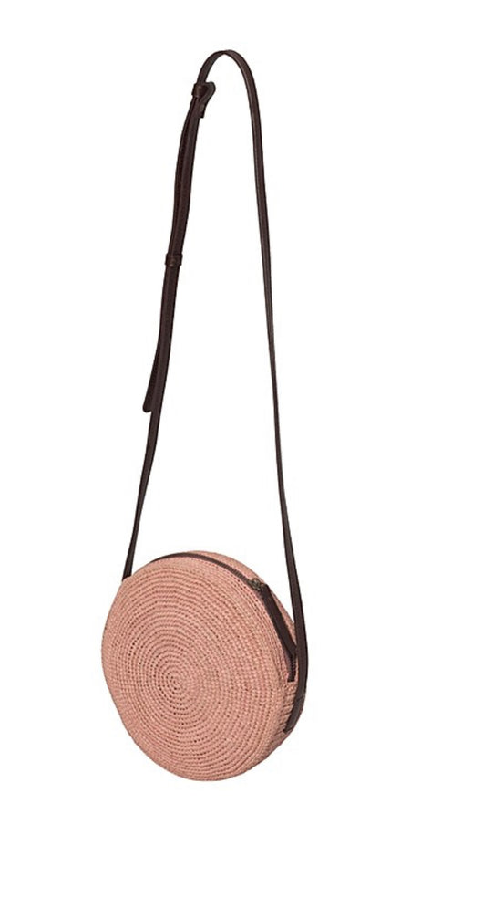 Le Panier Hand Made Cross Body Round Fine Raffia Pink Bag - Le Panier - Handbags and Clutches - Paloma + Co Adelaide Boutique