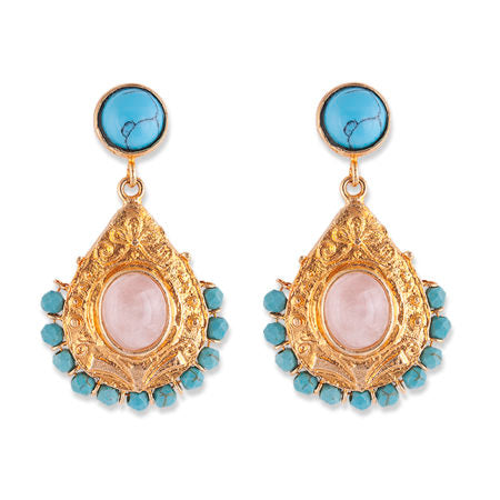 Bianc Semi Precious Stone GEORGIA EARRINGS - Bianc - Jewellery - Paloma + Co Adelaide Boutique