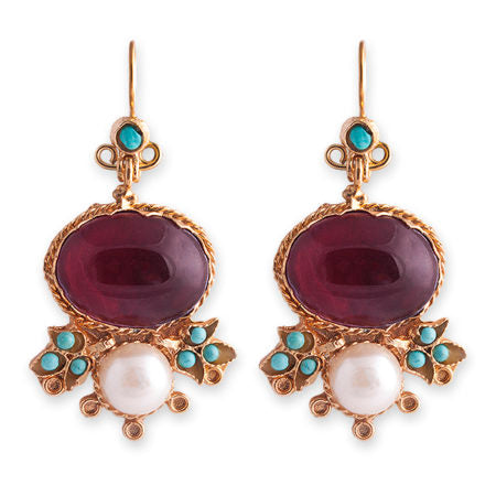 Bianc Semi Precious Stone BELLA EARRINGS - Bianc - Jewellery - Paloma + Co Adelaide Boutique