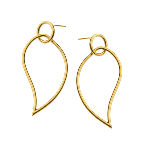 Cinquante The Label Come Alive Brass Earring - Cinquante - Jewellery - Paloma + Co Adelaide Boutique