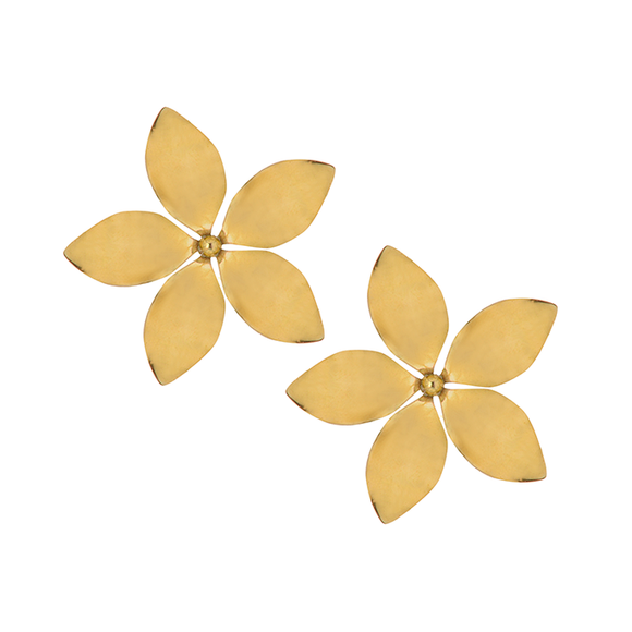 M Cinquante The Label HEAVENLY SCENT STUD Brass - Cinquante - Jewellery - Paloma + Co Adelaide Boutique