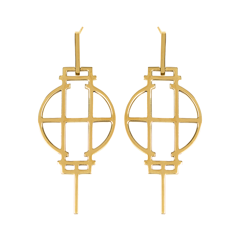 Cinquante LOOK AROUND Brass Earring - Cinquante - Jewellery - Paloma + Co Adelaide Boutique