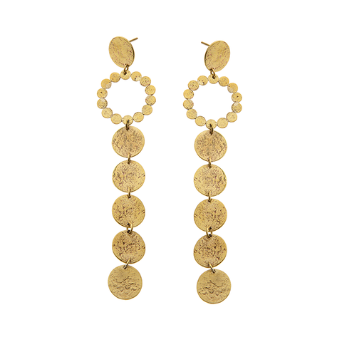 CINQUANTE The Label Endless Nights Brass Earrings - Cinquante - Jewellery - Paloma + Co Adelaide Boutique