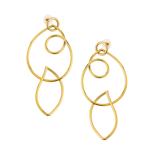 Cinquante The Label Lost Earrings Brass - Cinquante - Jewellery - Paloma + Co Adelaide Boutique