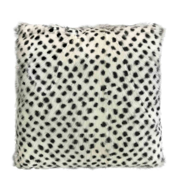 Goat Soft Fur Cushion - Serengeti White