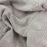 D Lux Jessie Knitted Pattern Cotton Baby Blanket