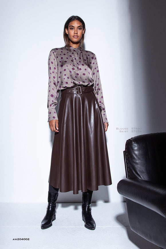 Funky Staff Leila Vegan Leather Skirt