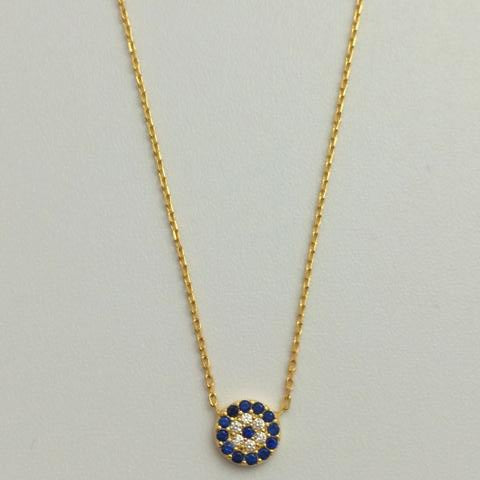 Gammie Sterling Silver Gold Plated Fine Link Eye Of Protection Necklace. - Gammies - Jewellery - Paloma + Co Adelaide Boutique