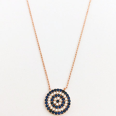 Gammie Large Rose Gold plated Eye Of p\Protection Necklace - Gammies - Jewellery - Paloma + Co Adelaide Boutique