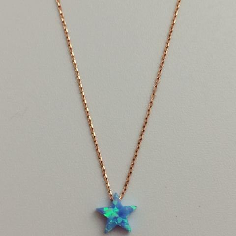 Gammie Opal Star Fine Chain Rose Gold Plated Necklace - Gammies - Jewellery - Paloma + Co Adelaide Boutique