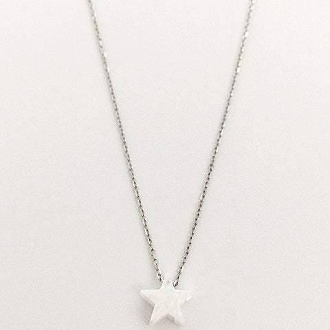Gammie Opal Star Fine Chain Sterling Silver Necklace - Gammies - Jewellery - Paloma + Co Adelaide Boutique